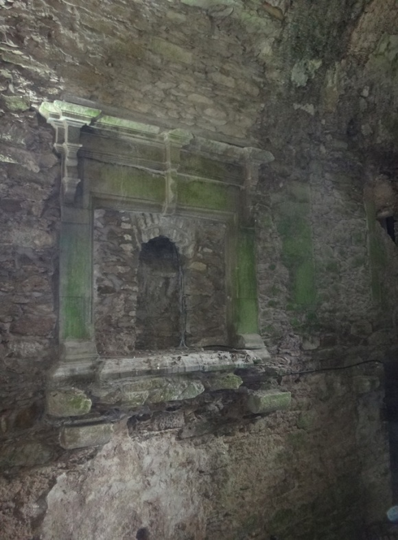 There used to be a floor below this fireplace